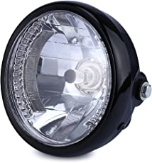 Zorbes 35W 2250Lm 12V Motorcycle Yellow Light Head Lamp Round Headlights with Turn Signal