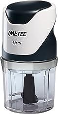 Imetec CH 500 Tritatutto, Lame in Acciaio Inox, Contenitore 400 ml, Funzionamento a Pressione, Compatto, 350 W
