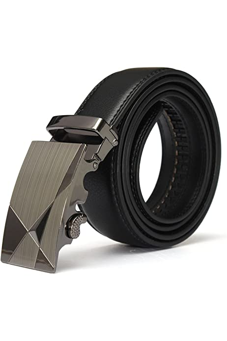 Mens Leather Belts, Lonshell Automatic Buckle Belts