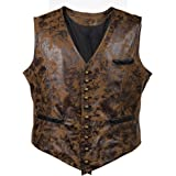 Bslingerie® Mens Steampunk Faux Leather Waistcoats Vest
