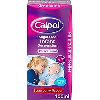Calpol Sugar Free Infant Suspension Medication - 100ml - Strawberry Flavour