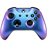 eXtremeRate Purple and Blue Chameleon Front Housing Shell Faceplate Replacement Kit for Xbox One S & Xbox One X Controller (M