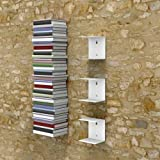 TANISHA'S GALLERY® Book Shelf Wall Mounted Metal Heavy Duty Metal Invisible Book Shelves 3 Piece Per Pack with Screws and Pla
