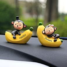 Buy Beauty Resin Ornaments Fashion Love Monkey Doll Automobile Dashboard Interior Car Decoration Accessories Gift, 7cm