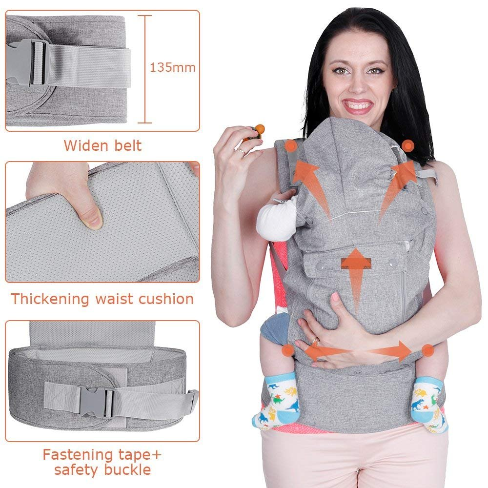 Lictin Baby Carrier Sling For Newborn Baby Wrap Carriers Front And