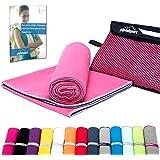 gipfelsport Mikrofaser Handtuch Set - Microfaser Handtücher für Sauna, Fitness, Sport | Strandtuch, Sporthandtuch | 8 Größen | 12 Farben