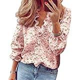 Jurebecia Camicia Donna Top e Bluse Elegante Bluse Manica Corta Casuale Camicetta Bluse e Camicie T-Shirt Scollo a V Magliett