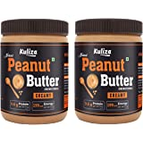 kuliza All Natural Peanut Butter Creamy (Unsweetened, Non-GMO, Gluten Free, Vegan) (2 KG)