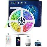 TASMOR Tiras LED WIFI 5M,Tira Luces LED RGB Inteligente Funciona con Alexa, Google Home, App, Tiras de LED Sincronización de