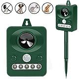 CXYP Ultraschall Katzenschreck Solar & Batteriebetrieben Einstellbare Frequenz & Empfindlichkeit Wetterfest Hundeschreck Tiervertreiber - Verstärkte Version