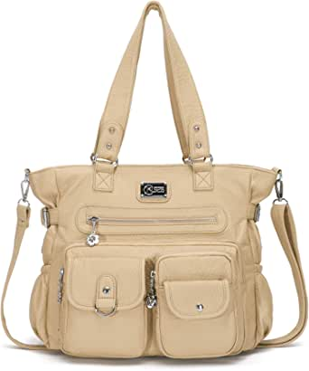 KL928 Handtasche Damen Tasche Umhängetasche Schultertasche Damentaschen gross für Damen Frauentasche PU Leder Damenhandtasche mit vielen Fächern