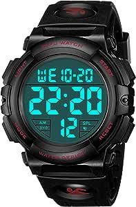 CIVO Montre Homme Sport Militaire étanche Montre Digitale Chronomètre Alarme Lumière LED Montres Bracelet Hommes Numerique Mode Grand Cadran