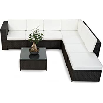 Amazonde Xinro 19tlg Xxxl Polyrattan Gartenmöbel Lounge Sofa