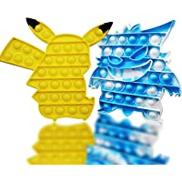 Popits Pas Cher, Pop-It Fidget Toys, 2 Packs Poppit Jeux pour Anti Stress Enfant ou Adulte, Pop Pokémon Simple Popit…