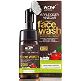 WOW Skin Science Apple Cider Vinegar Foaming Face Wash - with Organic Certified Himalayan Apple Cider Vinegar - No…