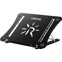 OMERIL Support Ordinateur Portable Tablette en Aluminium,Support PC Portable Réglable Pilable pour Macbook,Dell,Lenovo…