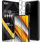 EGV Compatible avec Xiaomi POCO F3/Redmi K40/Redmi K40 Pro Verre Trempé, 2 Pack Film Protection Écran et 2 Pack Caméra Arrièr