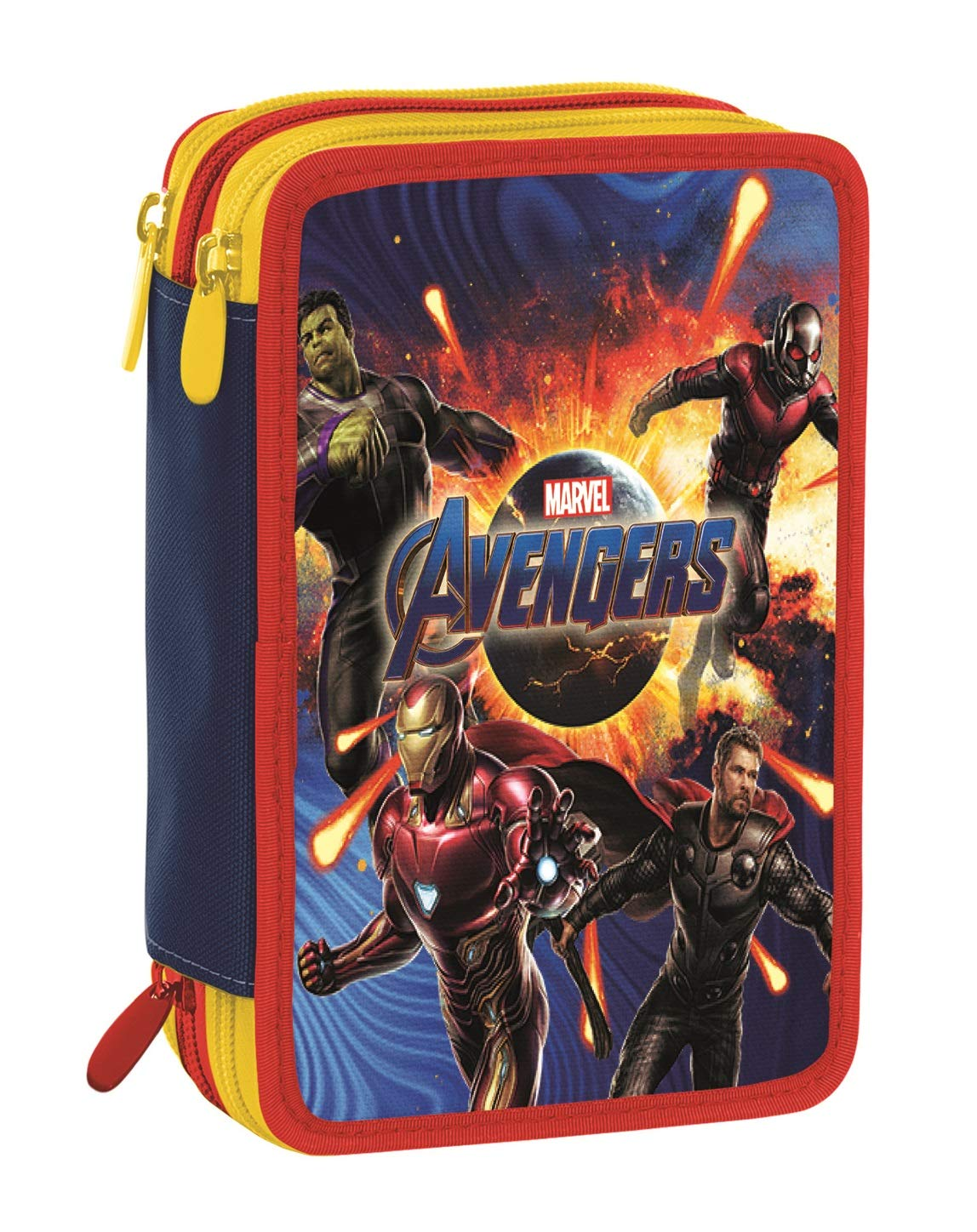 Seven AST.3 Zip Avengers Movie Team Tech Estuches 20 Centimeters 0.5 Multicolor (BLU e Rosso)