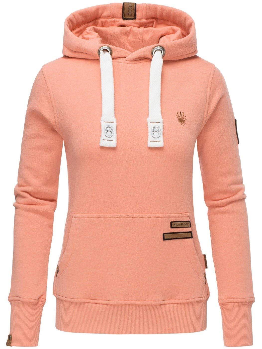 Navahoo Damen Sweatshirt Hoodie Pullover Pulli Sweater Kapuze warm B686