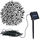 Vlio 8Modes White Color Led Solar Power Fairy String Lights Outdoor Decorative Light 50 LEDs Waterproof IP44 with Light…