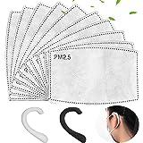 100PCS PM 2.5 Filtro de carbón activado Insertar 5 capas Reemplazable Anti Haze Filter Paper Pad