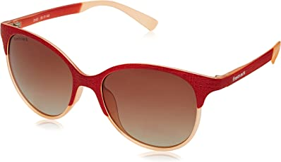 Fastrack UV Protected Browline/Clubmaster Women's Sunglasses - (P335BR1F 50 Graduated Brown Color)