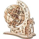 Polai Puzzle in Legno 3D Modello Legno Taglio Laser Kit Modello di Globi Fai da Te Costruzione Meccanica per Bambini e Adulti