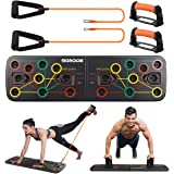 SGODDE Push Up Board, Push Up Fitness System Stand, Pieghevole Multifunzionali Body Buiding Push Up Rack Board, con Fascia di