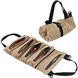 Sac à outils en toile avec 5 poches zippées pour les professionnels, Kaki