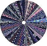 Grannycrafts 50 Pezzi 20x30cm Tessuti Stampato Cotone Tessuti e Stoffe a Metro Cotone Tessuti Stoffe per Patchwork Scampoli Stoffa Fatansia per Cucito Creativo Dark Colours