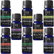 Aromatherapy Top 8 Essential Oil Set