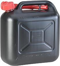 hünersdorff Kraftstoff-Kanister STANDARD 10l für Benzin, Diesel und andere Gefahrgüter, UN-Zulassung, made in Germany, TÜV-geprüfter Produktion, schwarz