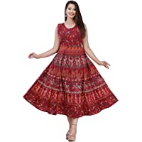 For N Beauty Women's Pure Cotton Regular Nighty Jaipuri Nighty Jaipuri Gown Rajasthani Nighty Rajasthani Gown