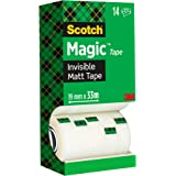 Scotch Magic Invisible Tape - 1 Roll, 19 mm x 33 m - General Purpose Sticky Tape for Document Repair, Labelling & Sealing