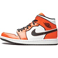 Nike - Air Jordan a uomo, 1 Mid Turf, colore Arancione/Nero Bianco DD6834-802, (Tappeto erboso Arancione/Nero-bianco…