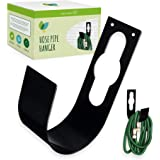 Hose Pipe Garden Hook for Wall Mounting Hose Pipe and Hanging with Hose Bracket and Screw Kit for (23cm Tall - Iron)
