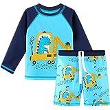HUAANIUE Traje de Baño para Bebé Comodidad Dos Piezas Manga Larga + Pantalones Cortos Combinación de Niños Piscina Anti-UV Tr