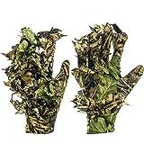 GUGULUZA 3D Camo handschoenen, outdoor camouflage, jachthandschoenen, bladercamouflage, Woodland camouflage handschoenen