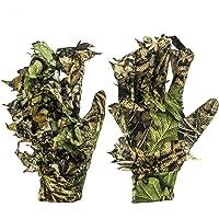 GUGUGULUZA 3D - Guanti mimetici mimetici da caccia con foglie mimetiche