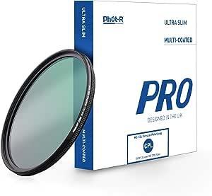 Phot R 55mm Pro Digitaler Zirkular Polfilter Polarisationsfilter Kamera Objektiv Cpl Gewindefilter Mit Linse Metallfassung