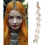 Beaupretty gioielli con catena a testa in oro con pendente a forma di luna accessori per capelli da sposa con copricapo a cat