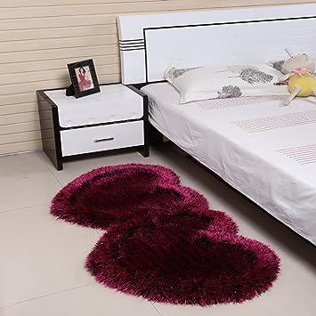 HOME & - tappeto di nozze a forma di cuore di fronte a letto manto ...