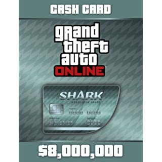 Grand Theft Auto Online | GTA V Megalodon Shark Cash Card | 8,000,000 GTA-Dollars