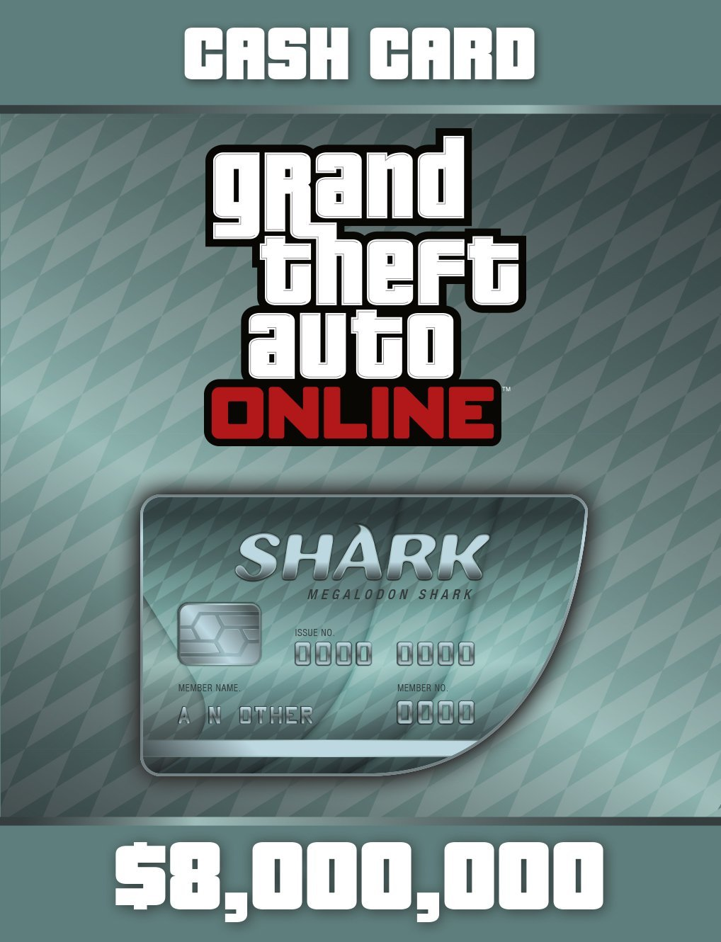 Grand Theft Auto Online | GTA V Megalodon Shark Cash Card | 8,000,000 GTA-Dollars [PC Code] (Gta V 5 Pc)
