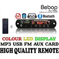 Bebop Bluetooth FM USB AUX Card MP3 Stereo Wireless TF Radio Audio Video Player Decoder Module Transmitter Board Kit with IR Remote for Car Multichannel Audio Amplifier 5V / 7-12V