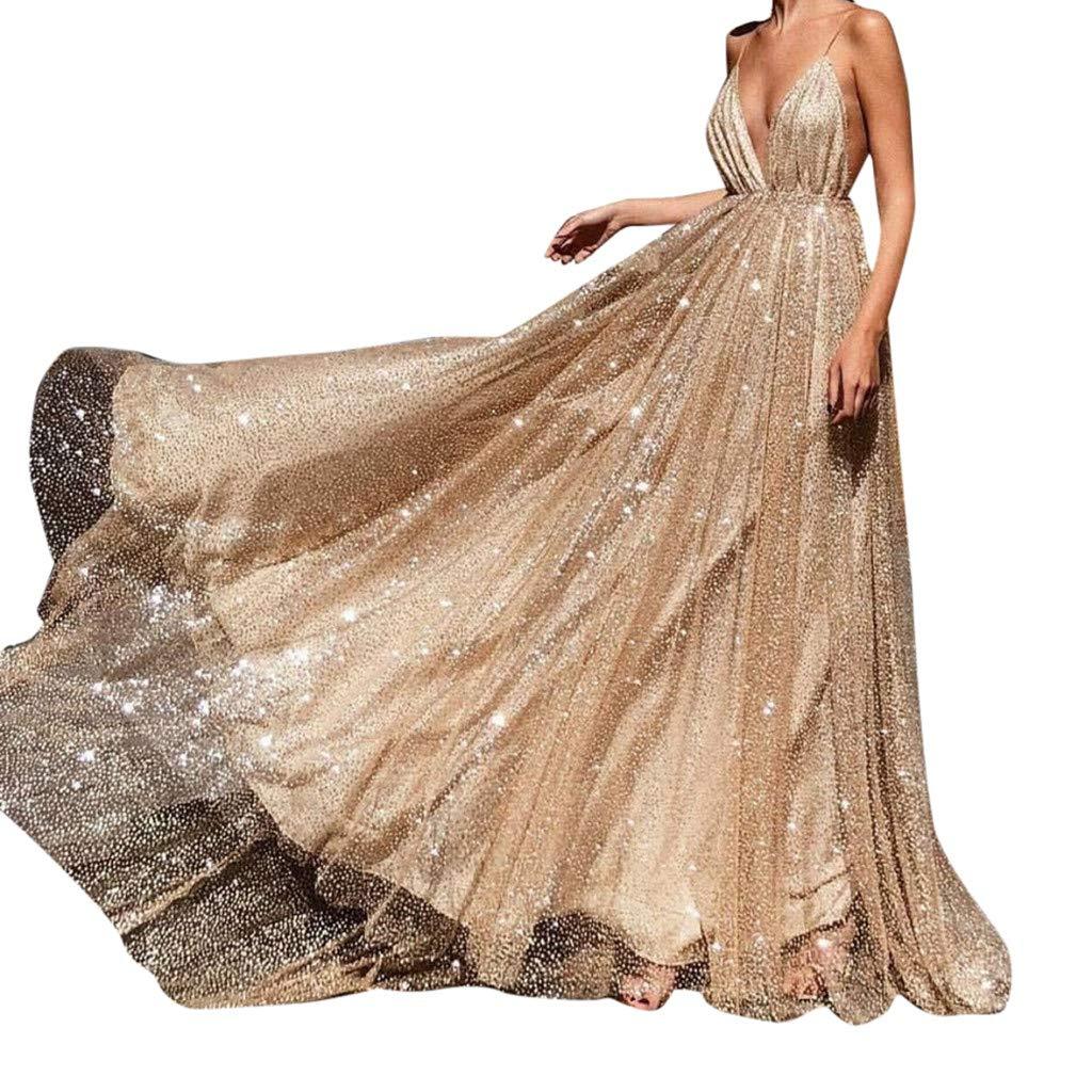size 40 9e4bf 70d48 Anmain Tulle Cocktail Vestiti Eleganti Donna, Festa Sexy Abito da Sera  Sposa Danza Cocktail Abiti Lungo Cerimonia Vita Alta Maxi Veste Matrimonio  ...