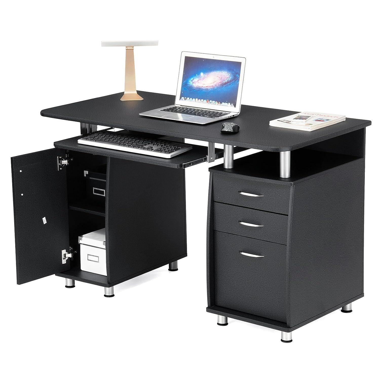 Bureau informatique MDF avec Tiroirs Tablette à Glissière