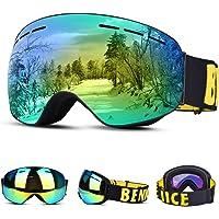 Upgrow Skibrille Skifahren Brille Schneebrille mit Anti-Nebel und UV-Schutz, Großes Sichtfeld Kletterspiegel…