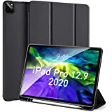 JHuuu Case Fit iPad Pro 12.9 2020 [Support Apple Pencil 2 Charge+Diamond bump Cooling Upgrade] Premium Trifold Case, Auto Sle