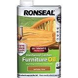 Ronseal UHWGFOT1L 1 Litre Ultimate Protection Hardwood Garden Furniture Oil - Teak